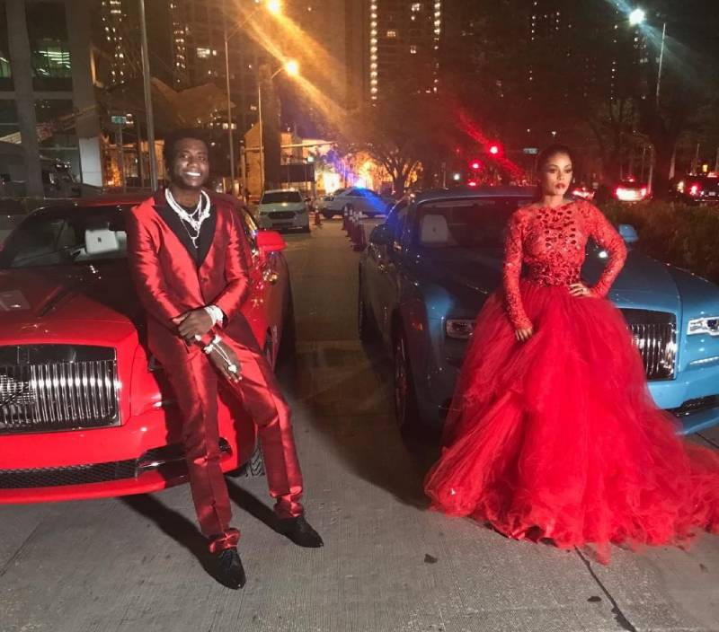 Gucci Mane and Keyshia Ka'Oir with their Rolls-Royce Wraith's