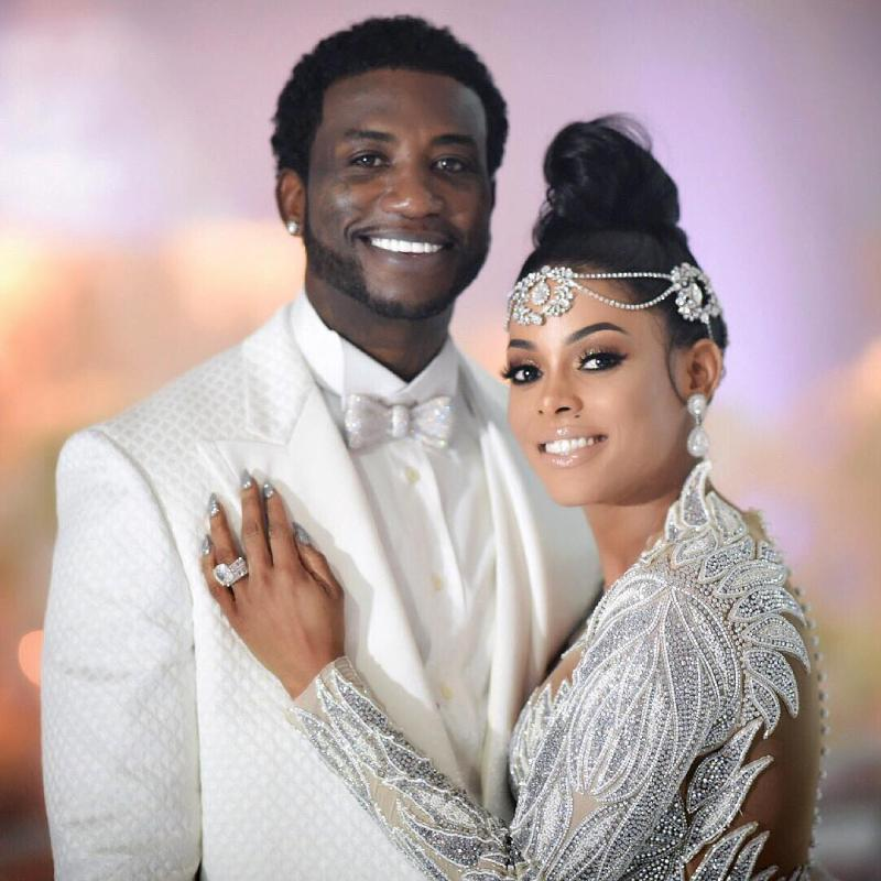 Gucci Mane and Keyshia Ka'Oir at their wedding