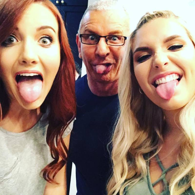 Robert Irvine with his daughters Annalise and Talie