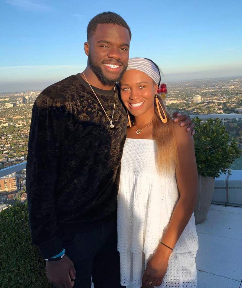 Frances Tiafoe with his girlfriend Ayan Broomfield