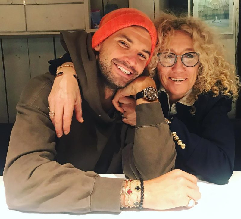 Grigor Dimitrov with his mother Maria