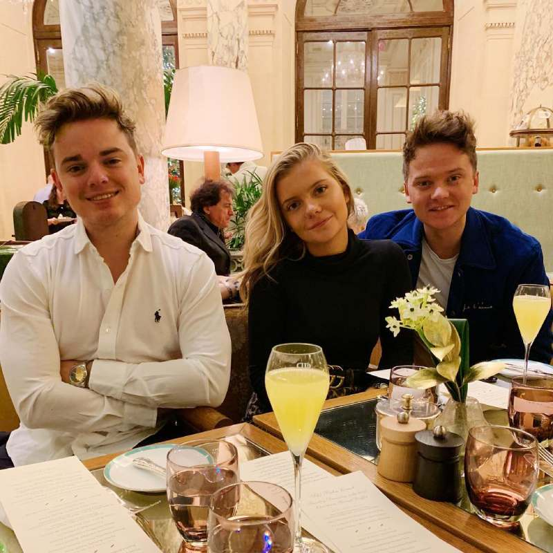 Jack Maynard with his sister Anna and brother Conor