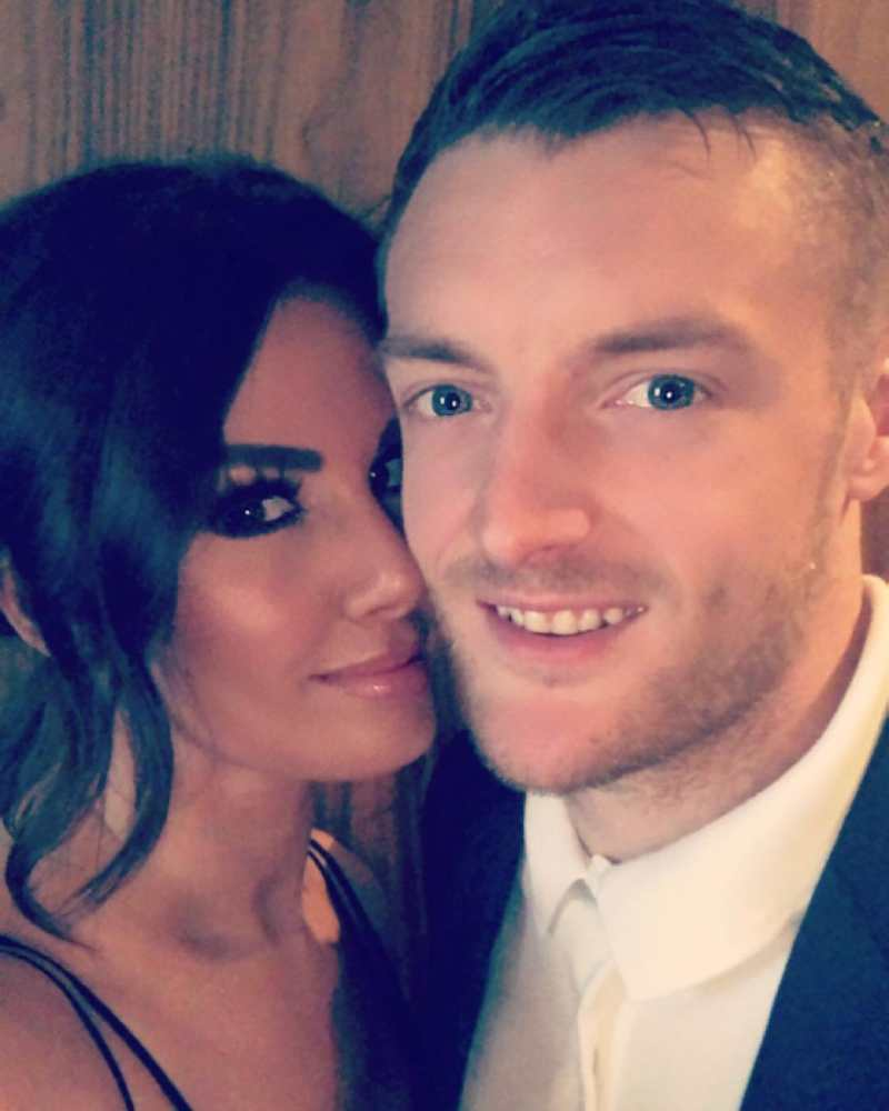 Jamie Vardy with his wife Rebekah 'Becky' Vardy