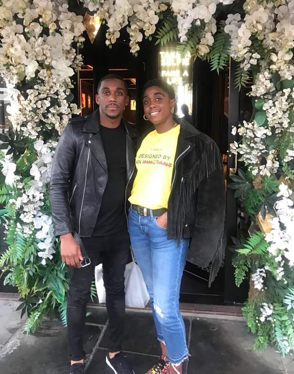 Lashana Lynch with her brother, Anwar Lynch