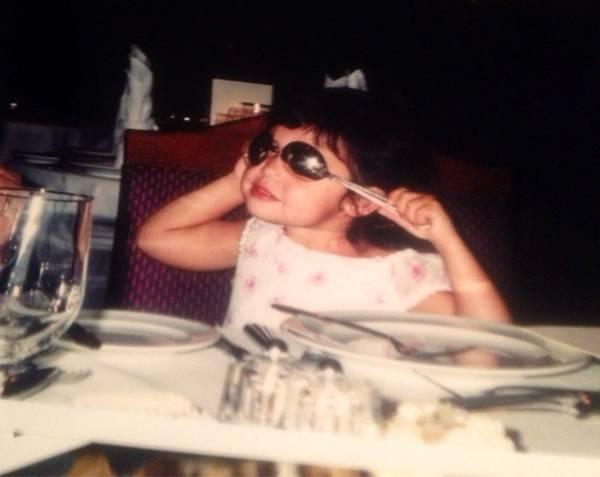 Natalie Pluto as a little kid