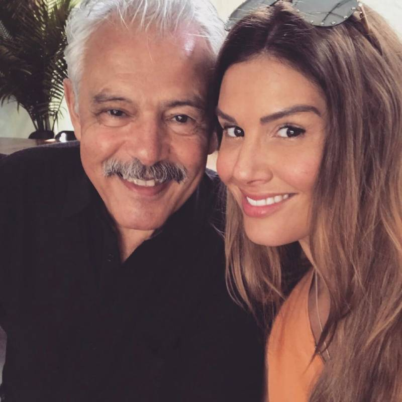 Rebekah Vardy with her father Carlos Miranda