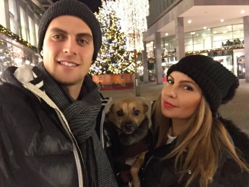 Tomi Juric with his girlfriend Valentina Krasimirova