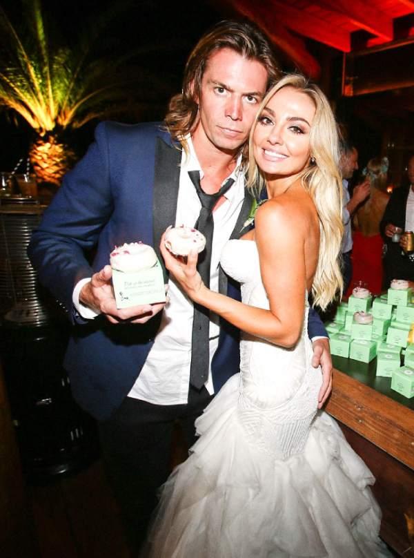 Brooke Evers with her husband Matt Stafford