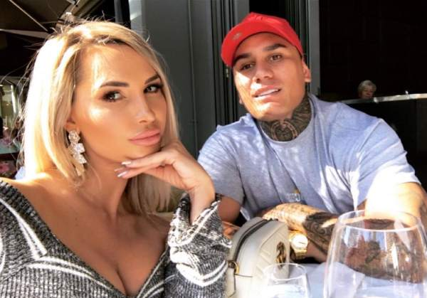 Rosanna Arkle with her boyfriend Zane Houia