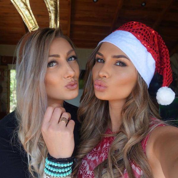 Rosanna Arkle with her sister Georgia Arkle