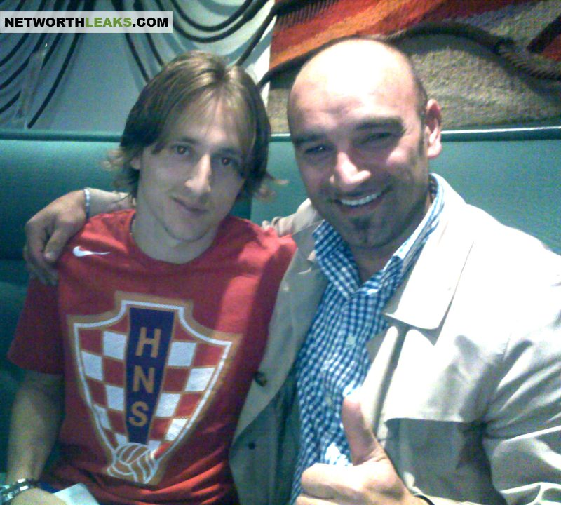 Luka Modric with Mirsad Keric (football player consultant)