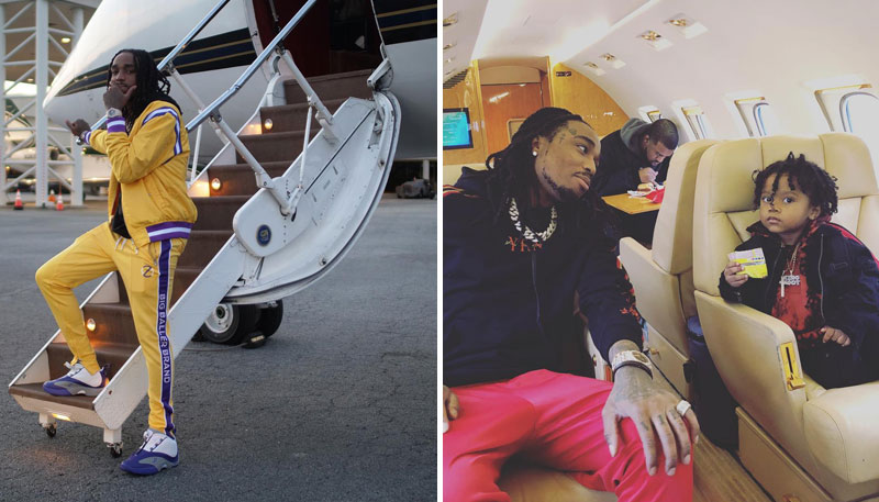 Quavo (Migos) cars and airplane