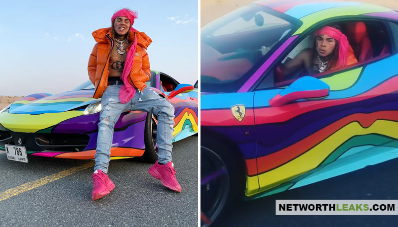 Tekashi 6ix9ine cars collection: Rainbow Car Ferrari