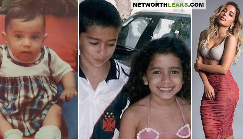 Then and now: Anitta as a baby, as a kid and now