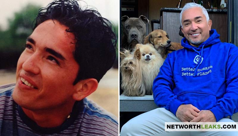Cesar Millan's then and now photos (Cesar Millan when he was young and now)