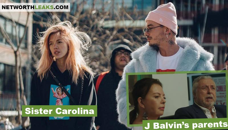 J Balvin's sister Carolina and parents