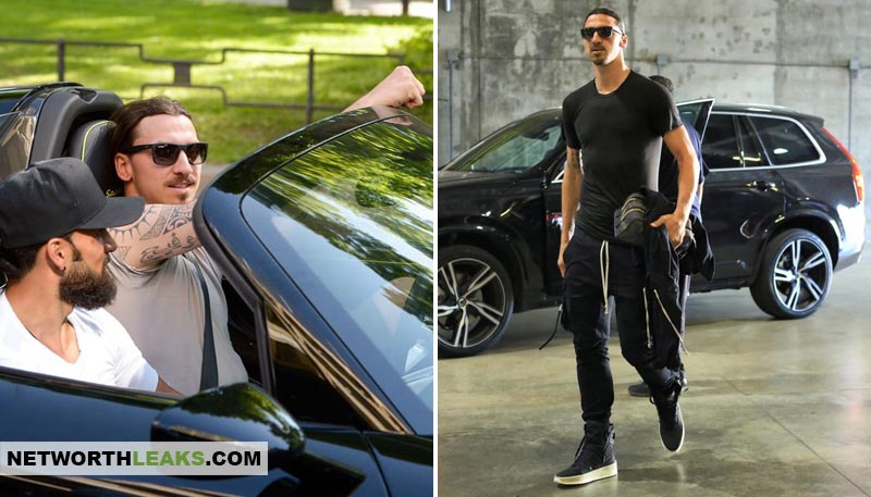 Zlatan Ibrahimovic cars collection: Porsche and Volvo