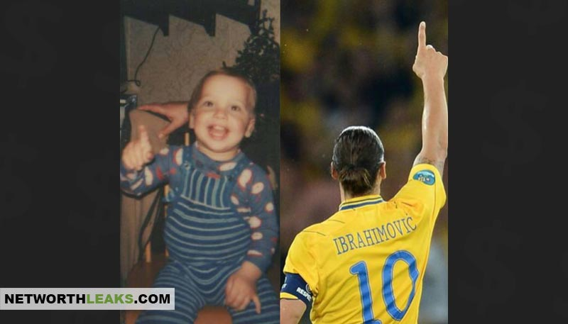 Then and now: Zlatan Ibrahimovic as a baby