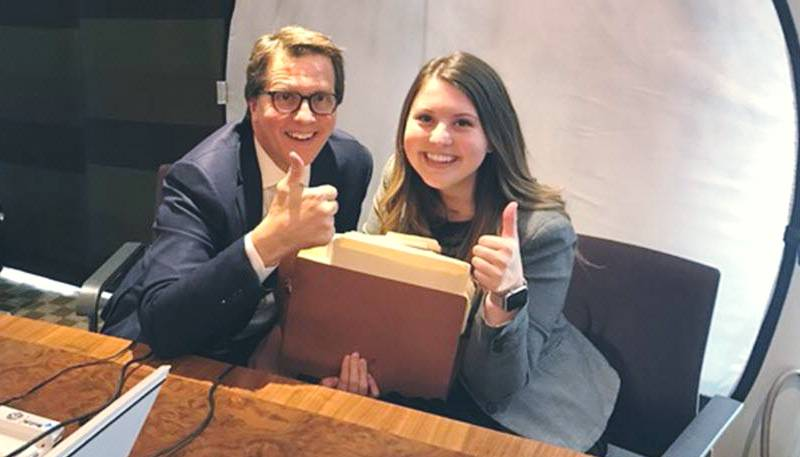 W. Mark Lanier with his daughter Rachel in the office