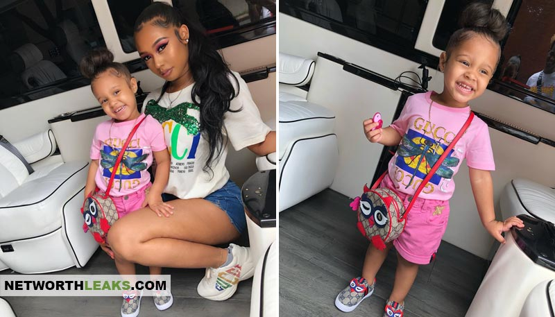 Tekashi 69's baby mother, Sara Jade Molina, and their daughter Saraiyah Hernandez