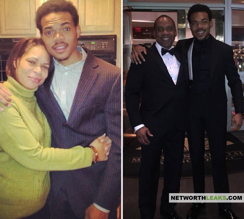 Chance The Rapper with his mother and father