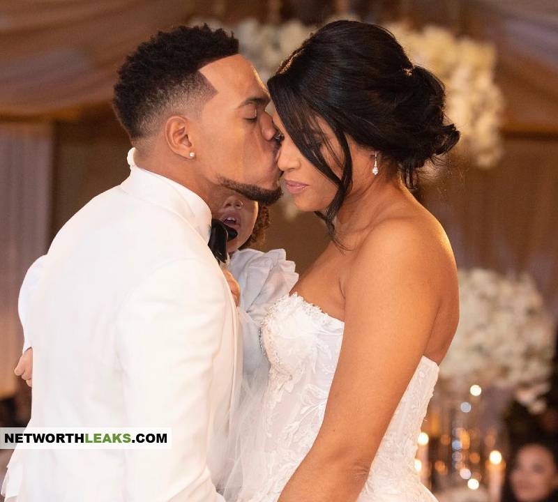 Chance The Rapper with his wife Kirsten Corley at their wedding