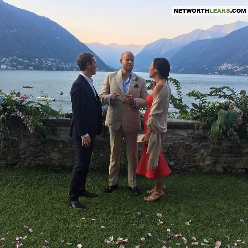 Daniel Ek with his friends, Mark Zuckerberg and Priscilla Chan