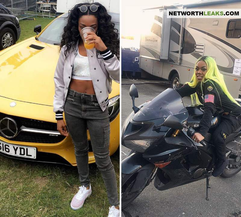 Lady Leshurr's cars collection
