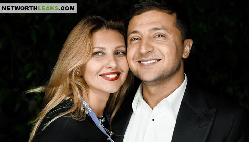 Volodymyr Zelensky with his wife Yelena Zelenskaya