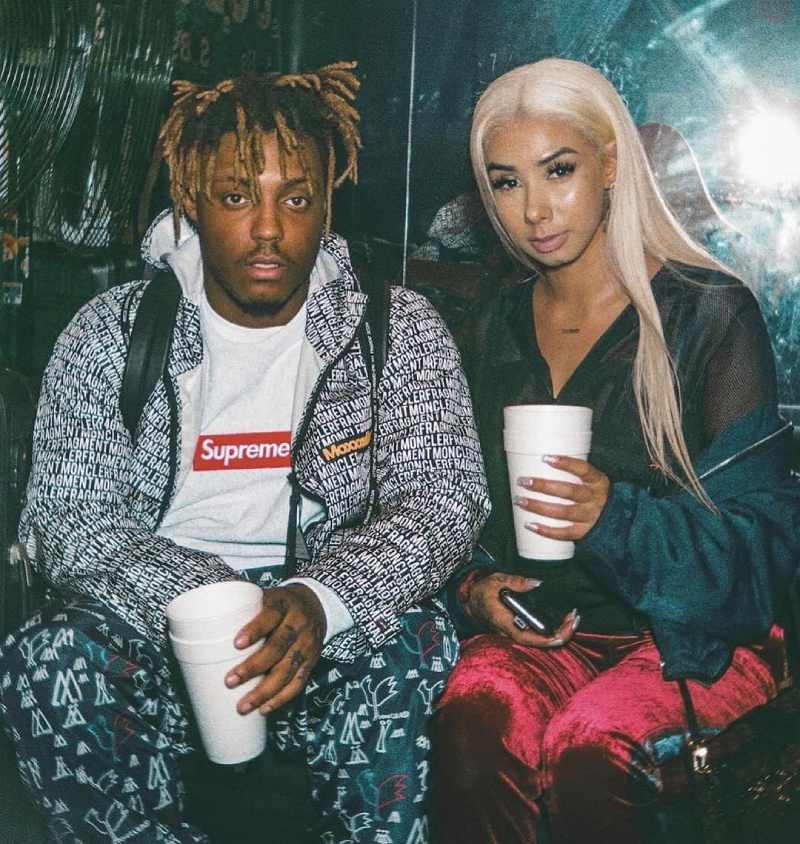 Juice WRLD with his girlfriend Ally Lotti