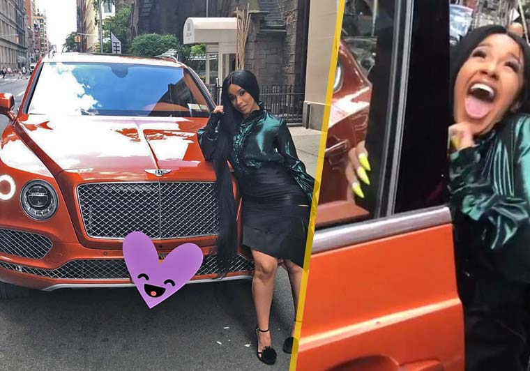 Cardi B with her cars
