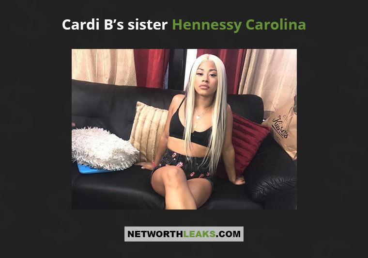 Cardi B's sister Hennessy Carolina
