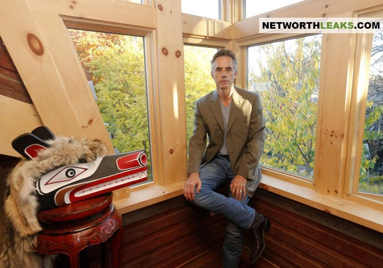 Jordan Peterson at his house
