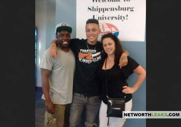 Lil Skies with his parents at Shippenburg University