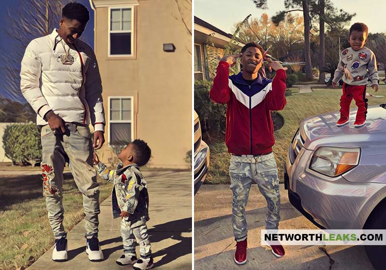 NBA YoungBoy with his kids