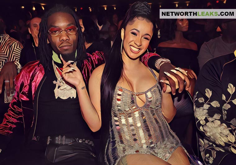 Offset (Migos) with his girlfriend Cardi B