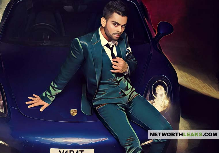 Virat Kohli with his Porsche