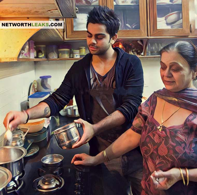 Virat Kohli cooking with his mother Saroj